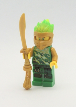 LEGO NINJAGO Figur gold grüner Lloyd Ninja Schwert Waffe Masters of Spinjitzu