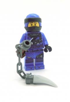 LEGO NINJAGO Figur JAY blau mit Ketten Spieß Waffe Masters of Spinjitzu