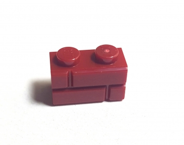 LEGO 1x2 Mauerstein 98283 dark red