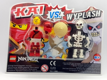LEGO NINJAGO 2 Figuren Blister Pack 111903 Kai vs. Wyplash