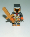 LEGO Minecraft Figure silber gold Pixelated